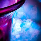 Blue bokeh with purple and orange by Jérôme Le Dorze