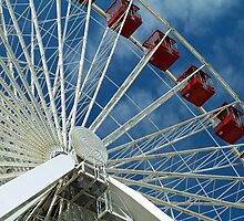 Patriotic Ferris Wheel by Thad Zajdowicz