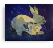 Printmaking: Rabbit Canvas Print