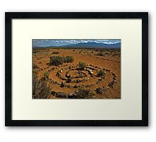 Spiral on the Rim Framed Print