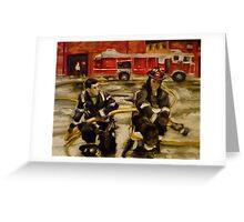Firemen Greeting Card