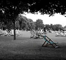Deckchairs in Hyde Park by Astrid Ewing Photography