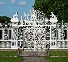 Chirk Castle Entrance Gates by Yampimon