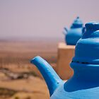 blue teapots  by emmawind