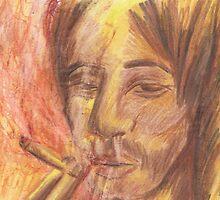 Man Smoking- Sepia Tones by Kyleacharisse