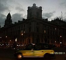 Night: Taxi cab: All hail change -(180511)- digital photo by paulramnora