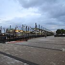 NJ Transit Lightrail Station Hoboken by pmarella