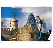 Tower and Gherkin Poster