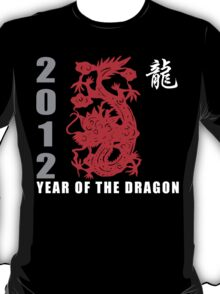 Year of The Dragon 2012 Paper Cut T-Shirt