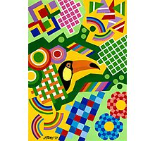 Colors And Shapes With Squars - Toekan - Brush And Gouache Photographic Print