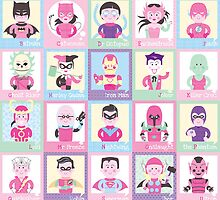 Heroes and Villains - PINK! by Marty Strong