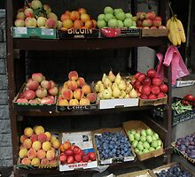 Street Shelf with Different kind of Fruits by keem