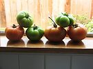 """Tomatoes on the Windowsill""   by waddleudo"