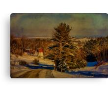 Rural Winter In Vermont Canvas Print