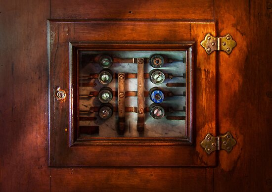 Steampunk - Electrical - The fuse panel by Mike  Savad