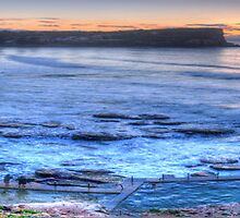 Greeting the Dawn (The Panoramic Cut) - Avalon Headland & Beach - The HDR Experience by Philip Johnson