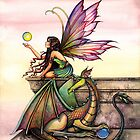 &quot;Dragon&#x27;s Orbs&quot; Fairy and Dragon Art by Molly Harrison by Molly  Harrison
