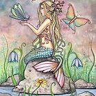 """""""Creekside Magic"""" Mermaid Art by Molly Harrison by Molly  Harrison"""