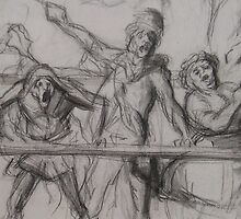 circus parade study - daumier by Joanna Fountain