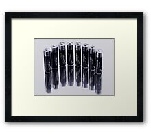 a POWER line up  Framed Print