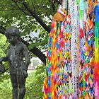 Paper Cranes at Nagasaki Peace Memorial  by Sunny Shaffner