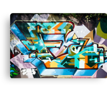 Abstract Colorful Graffiti on the textured wall Canvas Print