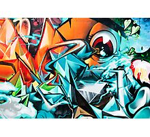 Abstract Colorful Graffiti with an Eye  Photographic Print