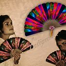 Antique Coppertrees Hand Fan...  by Qnita