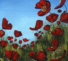 Red Poppies, Blue Sky by Cherie Roe Dirksen