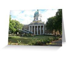 London: Famous Buildings: Imperial War Museum -(120511)- Digital photo Greeting Card