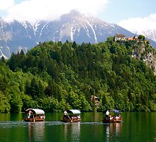Three Little Gondolas ... Lake Bled by Danielle Hall