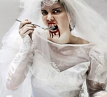 And the Bride ate glass! by skorphoto