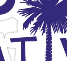 Purple South Carolina Palmetto Moon Native Sticker