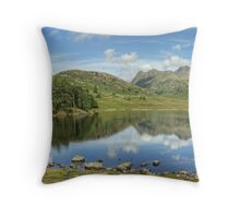 Blea Tarn in August..The Wider View Throw Pillow