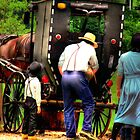 Amish Family by Marcia Rubin