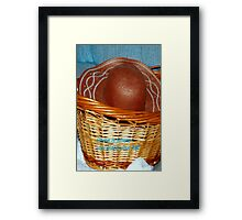 Home is where you place your hat! Framed Print