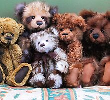 Teddies in a huggle! by Audrey Clarke