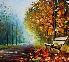 Autumn Park - Leonid Afremov by Leonid  Afremov