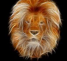 Lion-Medicine Wheel Power Animal by Liane Pinel by Liane Pinel
