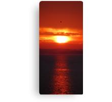 Llanelli Sunset Canvas Print
