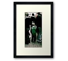 Stuck in the middle...? Framed Print