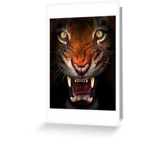 Fierce tiger Greeting Card