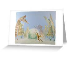 Oil painting Balance Greeting Card