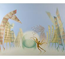 Oil painting Balance Photographic Print