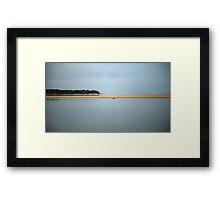 sandbar. anderson inlet, inverloch Framed Print