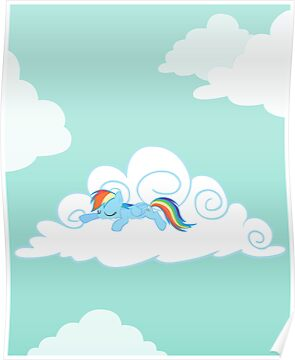 Sleeping Pony Poster by Stinkehund