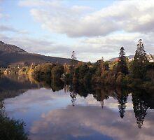 Autumn, River Derwent, Tasmania by Brett Rogers