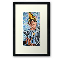 Not Clowning But Frowning Framed Print