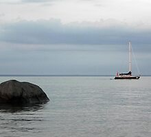 Rock and a Boat by bannercgtl10