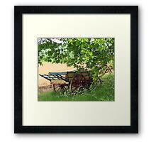 The Hay Rick, Hyde Hall, Essex Framed Print